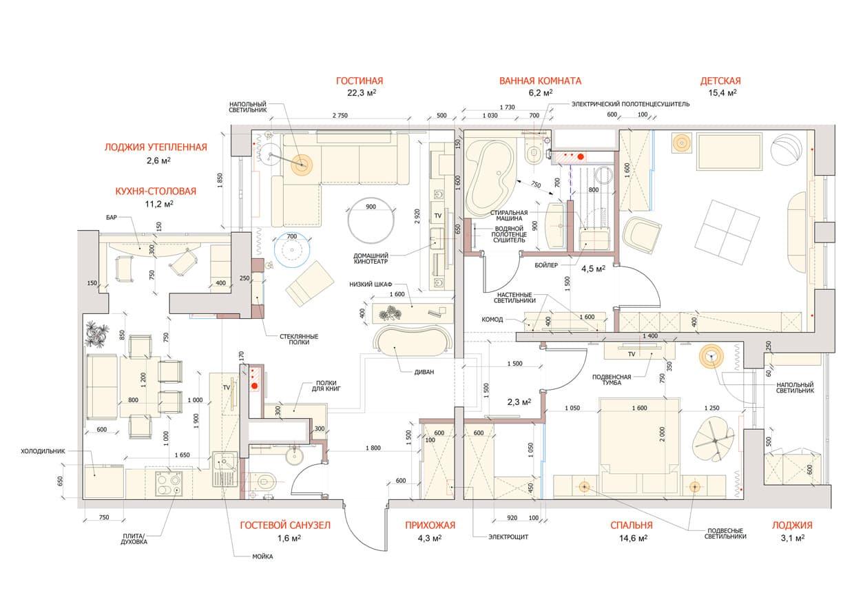 Дизайн проект таунхауса